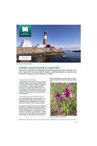 Faktaark om opprettelse av Færder nasjonalpark