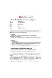Forskrift om bruk av vannscooter og lignende-Lovdata