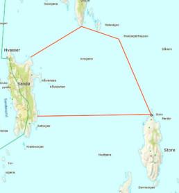 Hummerfredningsområde Sandø Fiskeridirektoratet Kart