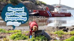 Dugnad mot marin forsøpling. Foto: Oslofjordens friluftsråd