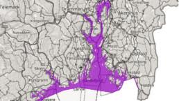 Kart som viser foreslått forbudsområde for fiske av torsk. Fiskeridirektoratet.