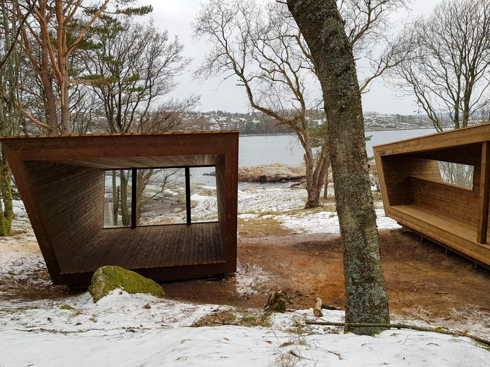 Padlehuk på Ildverket Færder nasjonalpark er en del av Padleled Vestfold